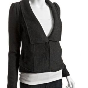 Free People Herringbone Wool Blend Jacket